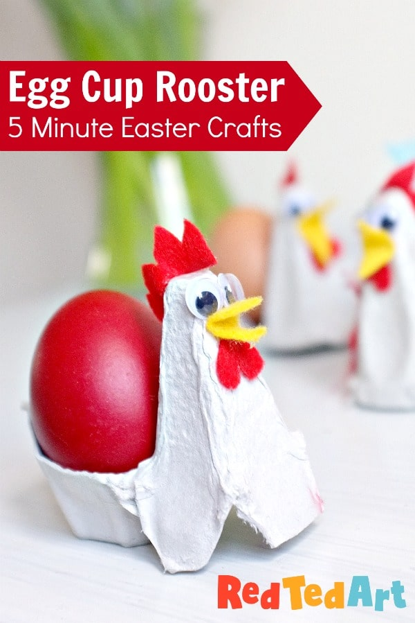 Egg Cup Rooster - quick craft