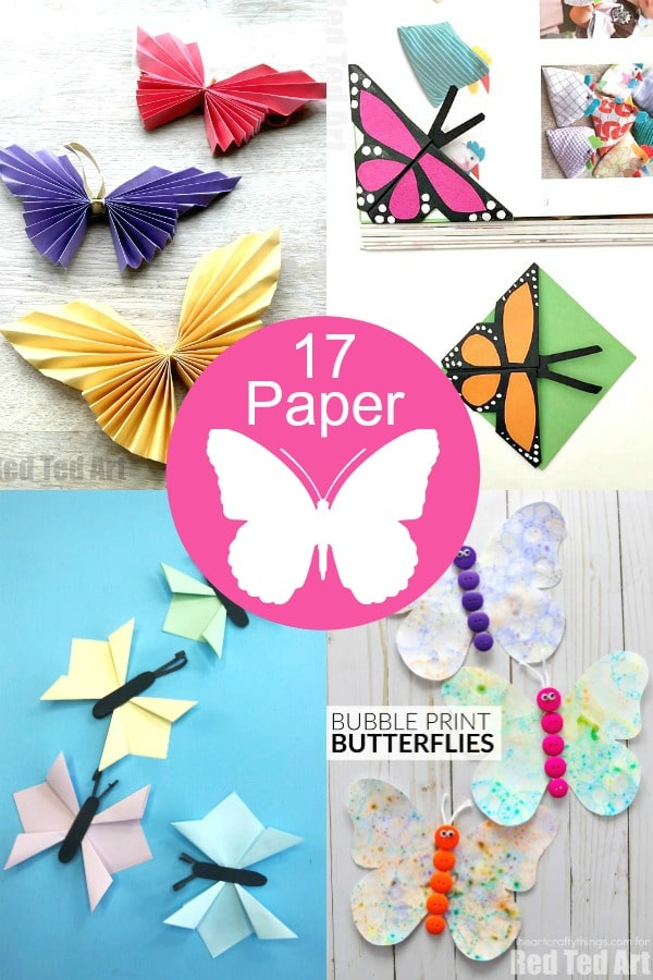 How to make butterflies out of paper. Easy Paper Butterflies to make at home. Diy Butterfly craft projects for kids and grown ups. #butterflies #paper #papercrafts #summer #spring