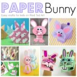 How to make paper rabbits step by step!