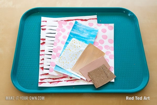 DIY Art paper for Father's Day Art Project