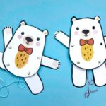 Ted Paper Puppet – Easy Teddy Bear for Kids