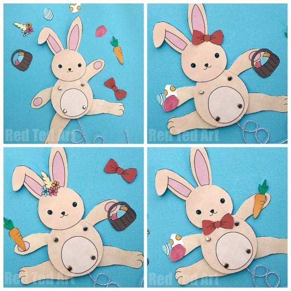Rabbit Paper Puppet