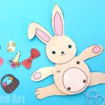 Easter Bunny Paper Puppet – Simple STEAM Activity for Easter