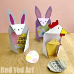 Triangle Paper Craft Bunny
