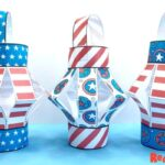 Paper American Flag Lantern Craft for Kids