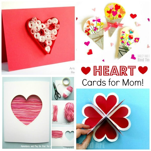 Collage of Heart Cards for Mother's Day