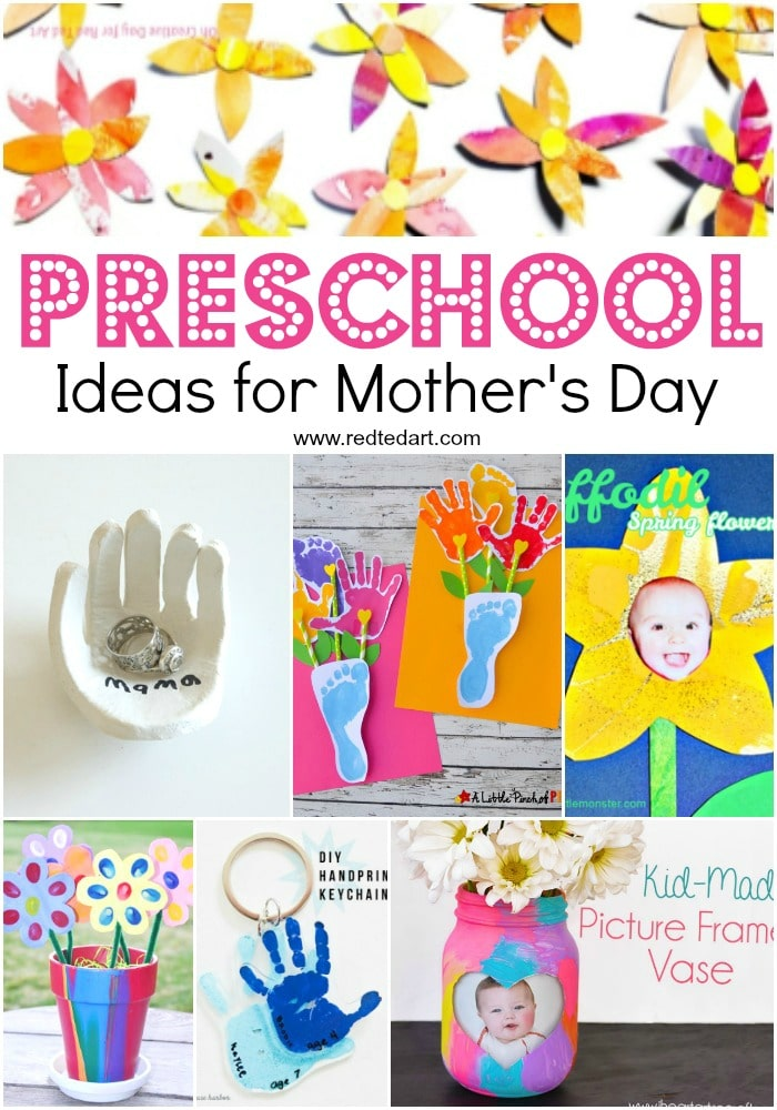 Mother S Day Crafts For Preschoolers Red Ted Art
