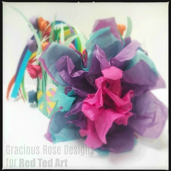 Tissue paper flower bonnet