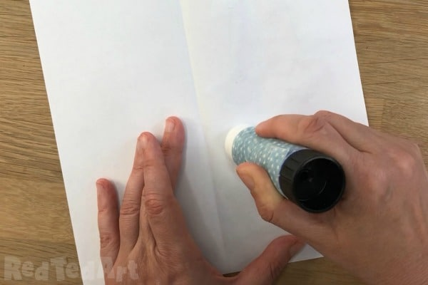 Gluing paper to make a double sided bookmark