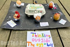Great Scientists egg decorating