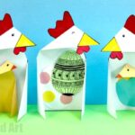 Triangle Paper Craft Chicken & Chick