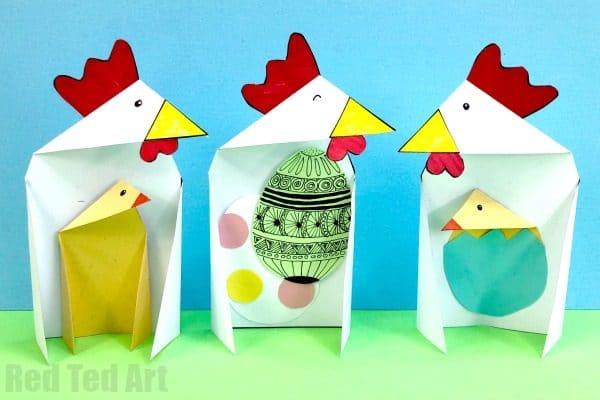 triangle chickens