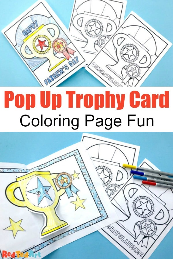 photograph relating to Printable Pop Up Cards identified as Printable Pop Up Trophy Playing cards - Crimson Ted Artwork