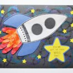 Handprint Rocket Card for Father's Day!