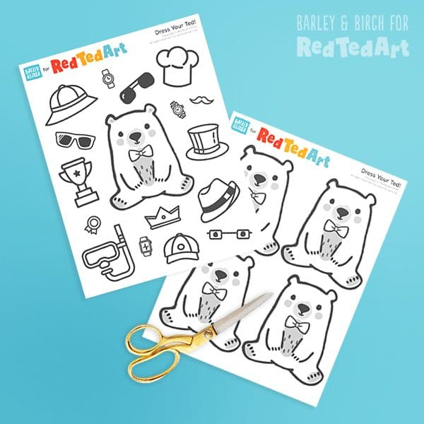 Bear Father's Day Card Printables
