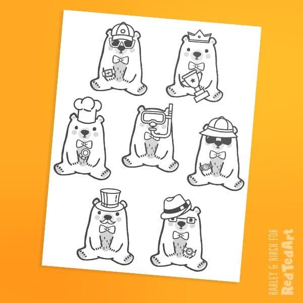 Bear printables
