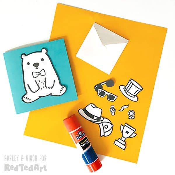 dress your ted father's day card printable