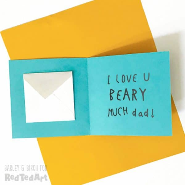 Write your I Love You Bear-Y Much message for Dad