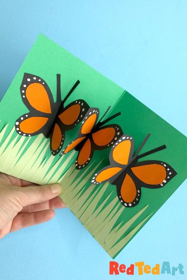 Pop up butterfly card idea