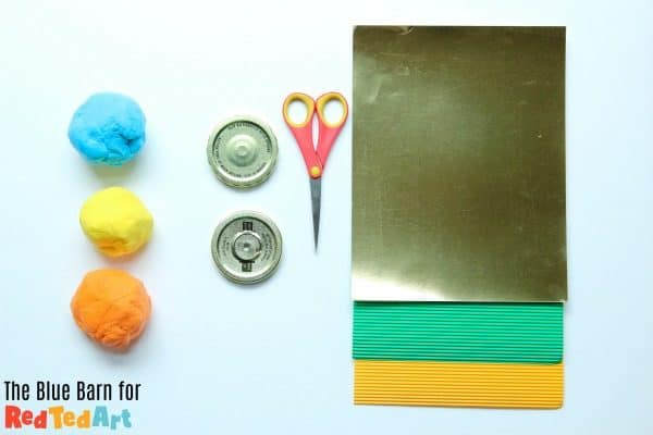 Materials needed to make a father's day medal with preschoolers