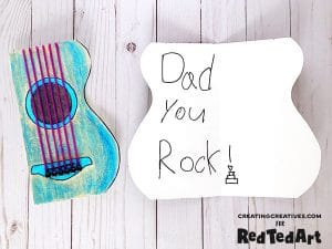 Dad Rocks Guitar Card DIY