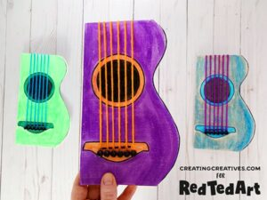 Guitar Cards for music lovers and rock chicks