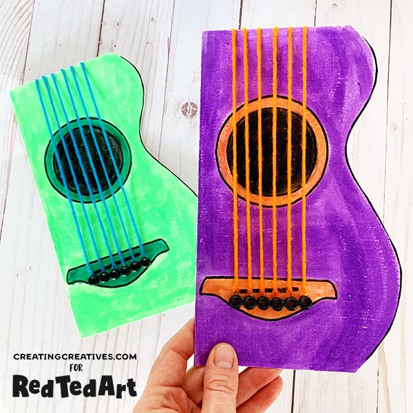 Dad, You Rock Guitar Card by Red Ted Art