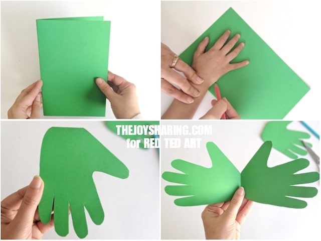Collage of Handprint Card made in green