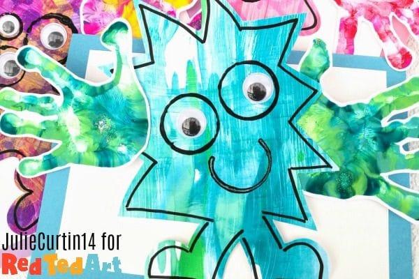 Handprint Monster Hug Card