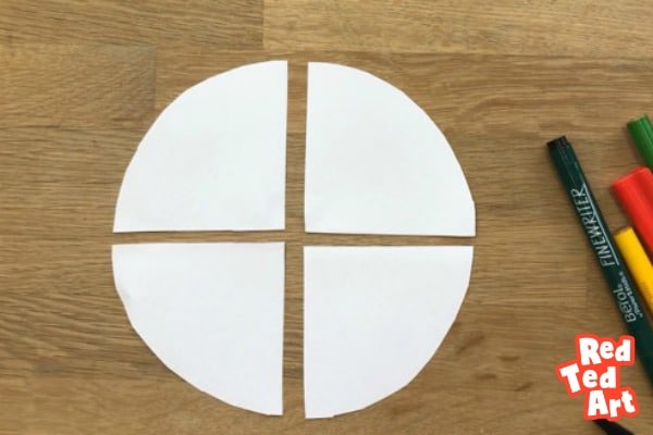 How to cut a circle for paper mouse puppets