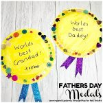 finished father's day paper plate medals to make