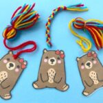 Easy Pip Bear Bookmark Printable