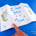 Seahorse Father's Day Card Printable