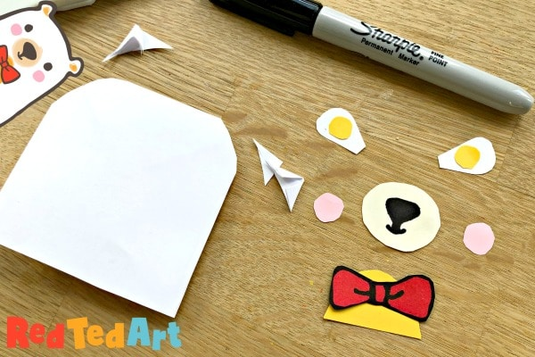 How to make a Teddy Bookmark