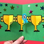 Pop Up Trophy Card for Dad