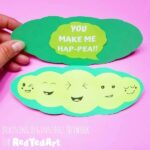 "Printable ""You Make Me Hap-pea"" Card for Father's Day"