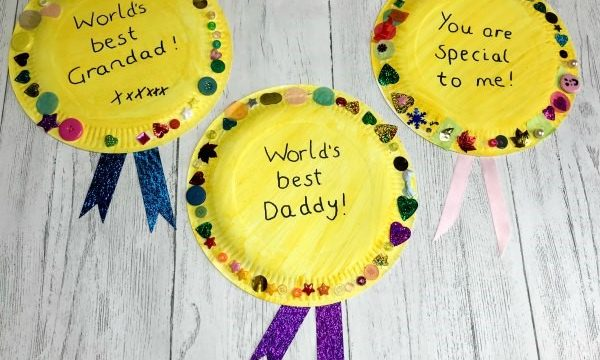 paper plate medals