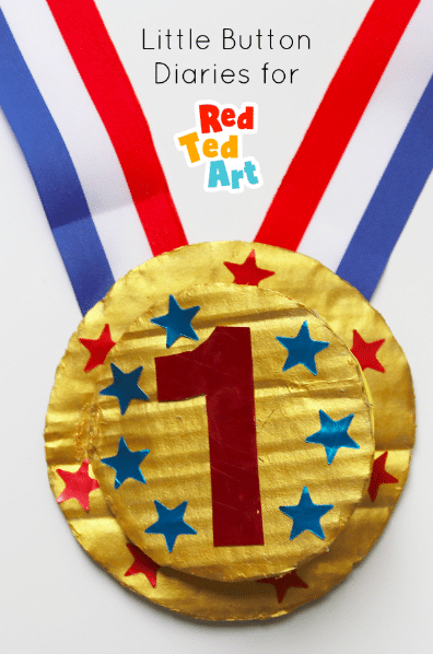 Final Father's Day medal made by preschool