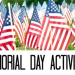 Memorial day flags and activities