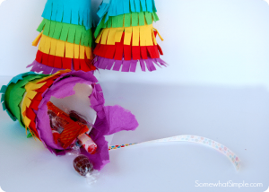 Easy paper up pinatas to make in 5 minutes