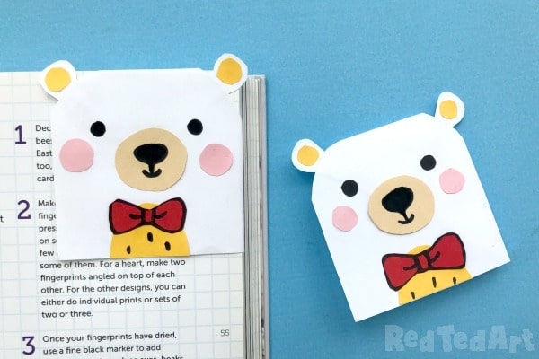 Two teddy bookmark corners - super sweet