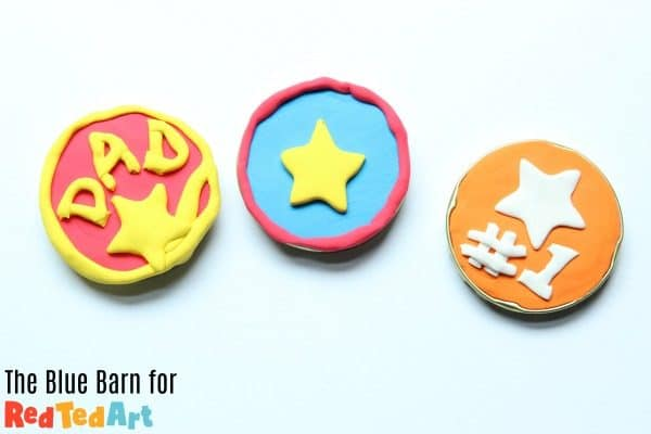 Air drying clay father's day medals