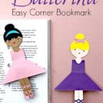 Easy Ballerina Corner Bookmark Design