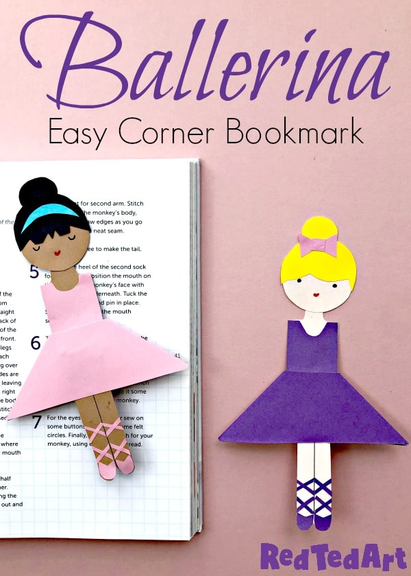 Easy Ballerina Corner Bookmark Design Red Ted Art Make Crafting With Kids Easy Fun
