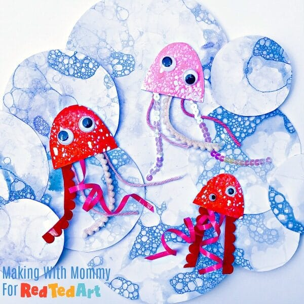 Ideas for Bubble Art Projects - Jellyfish