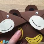 Easy Monkey Corner Bookmark