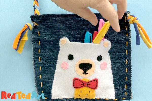 HOw to make a Ted Purse from denim and felt