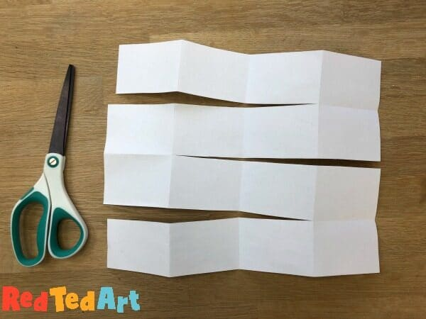 How to cut the paper to make a mini notebook from one sheet of paper