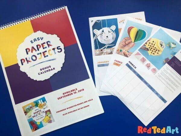 Printable Paper Crafts Calendar