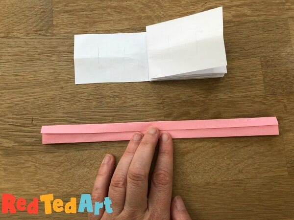 paper strip to make your mini notebook locks
